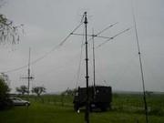 Viele Drähte und Antennen zierten das Gelände