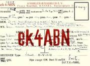 Franz Noether [k4abn, k4avb, 4kl, EK4kl, D4kl, D4elk], an eawg, Hans Wieder, Salzburg, vom 30.11.1929 (Bild: Dokumentationsarchiv Funk/QSL Collection)