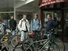 Die Fahrrad-Truppe kurz vor dem Aufbruch