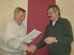 Harald, DJ3AS, wurde für 50-jährige DARC-Mitgliedschaft geehrt
