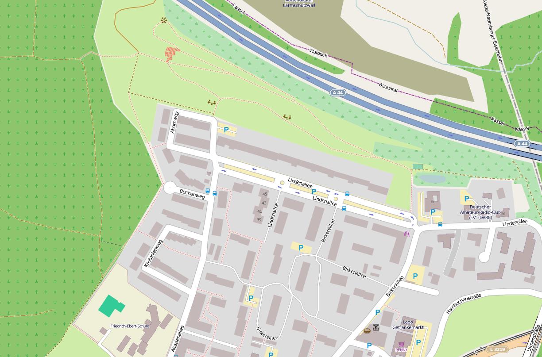 OpenStreetMap: Ausbildungszentrum des DARC